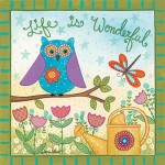 Framed Life Is Wonderful Owl