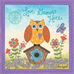 Framed Love Grows Here Owl