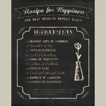 Framed Recipe For Happiness