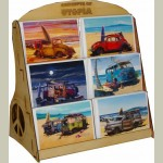 Cruiser Art Greeting Cards Display