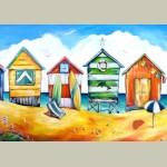 Framed Beach Huts