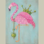 Block Mount Royal Flamingo Large