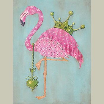 Block Mount Royal Flamingo Small