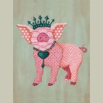 Block Mount Royal Pig Large