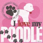 Framed Love My Poodle