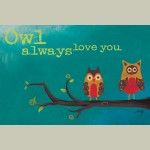 Canvas Owl Always Love You