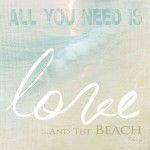 Framed Print Love & The Beach
