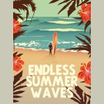 X-Large Framed Endless Summer Waves