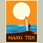 X-Large Framed Hang ten